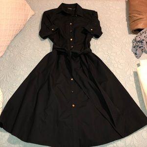 Ralph Lauren Black button down dress